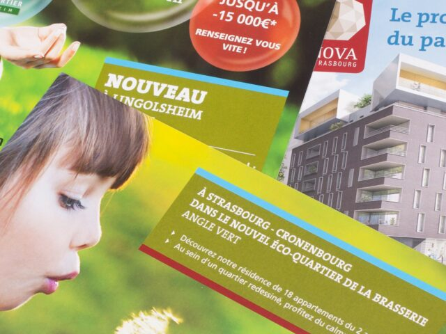 Flyers projets immobiliers BMI Strasbourg